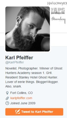 This is Karl's twitter profile as of the 2.3.15