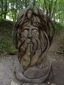 Woodland Walk & Sculpture Trail - National Tramway Museum - Crich - The Green Man by Elliott Brown on Flickr attribution requried - original file found: https://flic.kr/p/pqVE7t