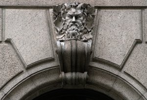 Horned Green Man at University Club Green Man (New York, NY) by takomabibelot orginal file: https://flic.kr/p/5879oB