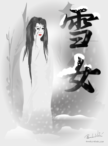 Yukionna is a White Woman who appears in Japanese culture who lures men to an eternal snowy winter. Picture: This is created by Branko Vukelić found at  https://flic.kr/p/8cfkan