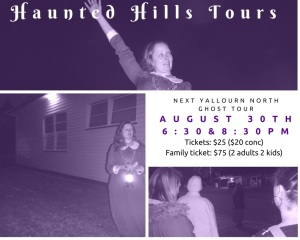 30 August 2015, 6:30pm and 8:30pm TIcket prices $25.00 ($20 conc), Family Ticket (2 adult, 2 kids)