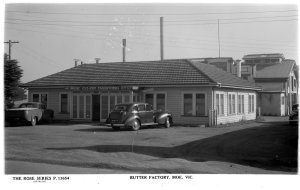 Title: BUTTER FACTORY, MOE, VIC. [picture] Author/Creator: Rose Stereograph Co Date(s): c1920-1954 Capturefile: D:glass neg rawsbox 382rg008368.tif CaptureSN: CC001681.046139 Software: Capture One PRO for Windows Link to digitised item: http://handle.slv.vic.gov.au/10381/58608 Link to this record: http://search.slv.vic.gov.au/MAIN:SLV_VOYAGER1641717