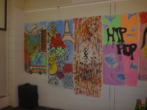 This is a display from Gippslands multicultural youth, heaps of talent.