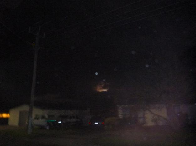A super moon rising