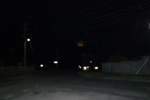 We loved the supermoon, there are also orbs all over this photo taken at the corner of North Road and East Road, Photo by Michael Spitso