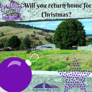 Will you be home for Christmas - the photograph is taken from the end of John St, Yallourn North