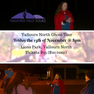 Yallourn North Ghost Tour on Friday the 13th of November 2015 at 8pm